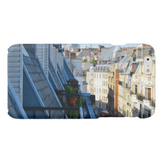 roof top balcony in a Paris France arrondissement Glossy iPhone 6 Case
