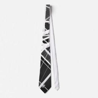 Roof top black neck tie