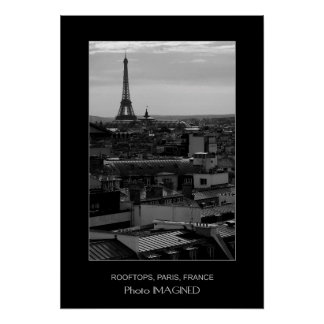 ROOF TOPS AND THE EIFFEL TOWER, PARIS, FRANCE POSTER