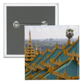 Roof tops of Shwedagon Pagoda, Yangon, Myanmar Button