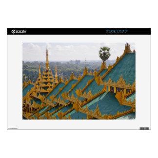 Roof tops of Shwedagon Pagoda, Yangon, Myanmar Decals For Laptops