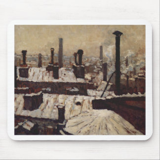 Roof under the Snow, Paris by Gustave Caillebotte Mouse Pad
