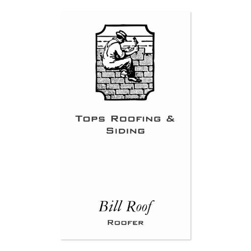 Roofer Business Cards