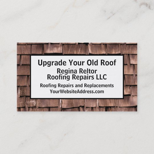 Roofer construction old shingles business card zazzle roofer construction old shingles business card reheart Choice Image