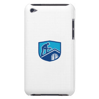 Roofer Construction Worker Working Shield Retro Barely There iPod Cover