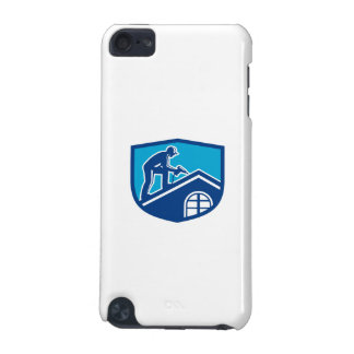 Roofer Construction Worker Working Shield Retro iPod Touch 5G Cover