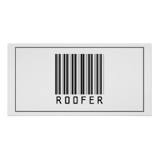 Roofer del código de barras póster