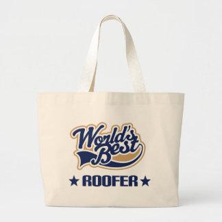 Roofer Gift (Worlds Best) Canvas Bag