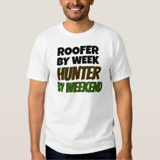 Roofer Loves Hunting Tee Shirt