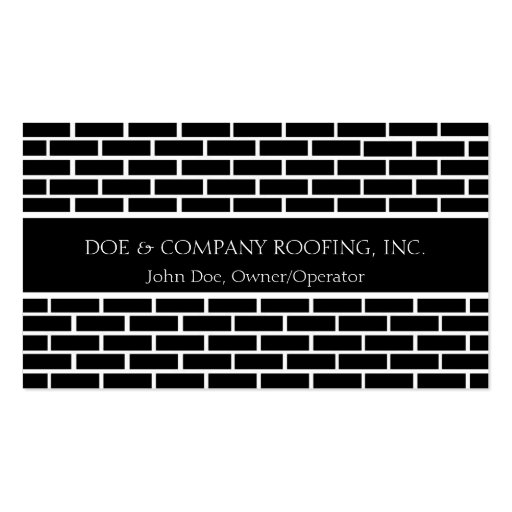 Roofer/Roofing Black Shingles Business Card Templates