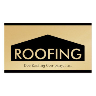 Roofer Roofing Company Golden Business Card