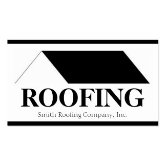 Roofer Roofing Contractor Company Business Card Template