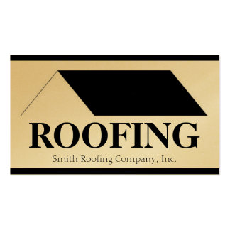 Roofer Roofing Contractor Company Gold Paper Business Card Template