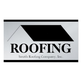 Roofer Roofing Contractor Company Platinum Paper Business Card
