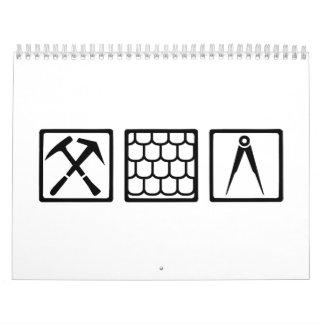 Roofer tools calendar