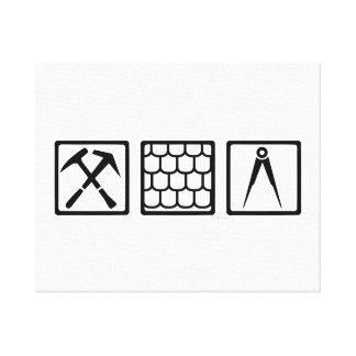 Roofer tools canvas prints