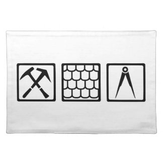 Roofer tools placemat