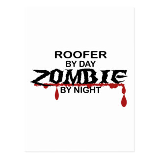 Roofer Zombie Postcard