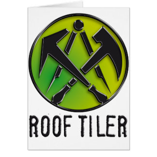 Roofers craftsmen symbol roof more tiler card