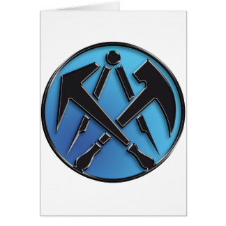Roofers craftsmen symbol roof more tiler card