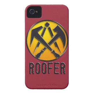 Roofers craftsmen symbol roof more tiler Case-Mate iPhone 4 cases