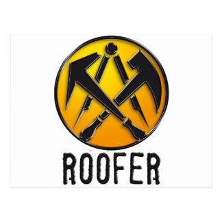 Roofers craftsmen symbol roof more tiler postcard