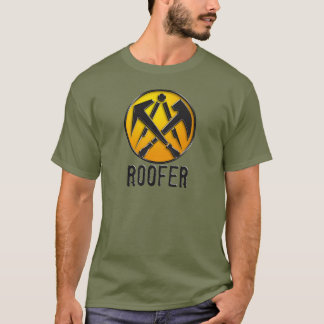 Roofers craftsmen symbol roof more tiler T-Shirt