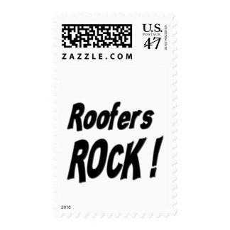 Roofers Rock ! Stamp