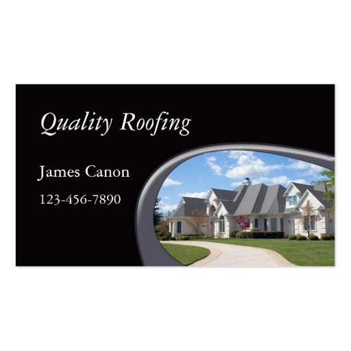 Roofing double sided standard business cards pack of 100 for Business cards roofing design
