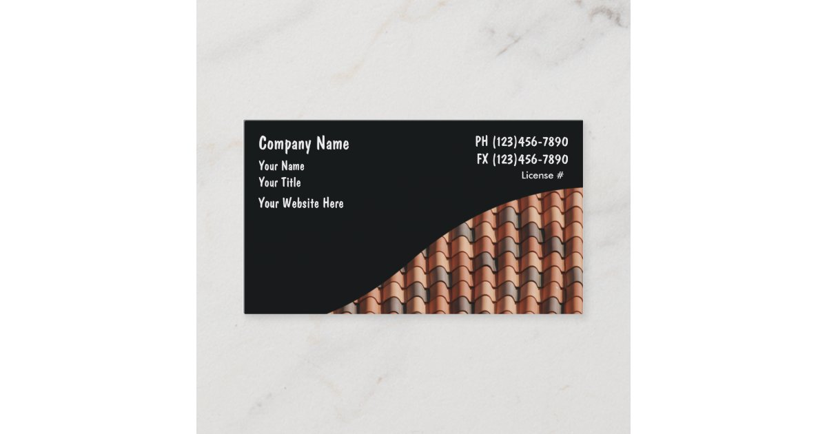 Roofing Business Cards   Zazzle.com