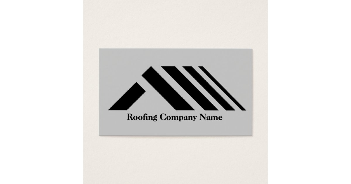 Roofing Company Business Card | Zazzle.com