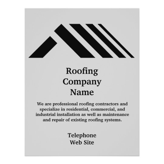 Roofing Company Business Flyer | Zazzle