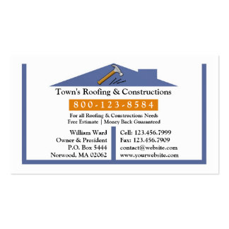 Roofing Construction Business Card