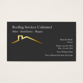 Roofing Construction Business Cards