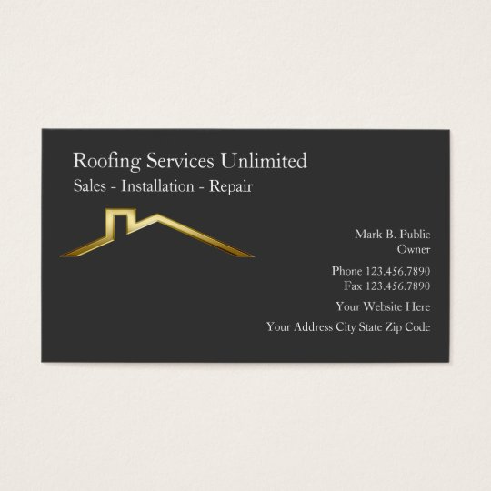 roofing construction business cards zazzlecom