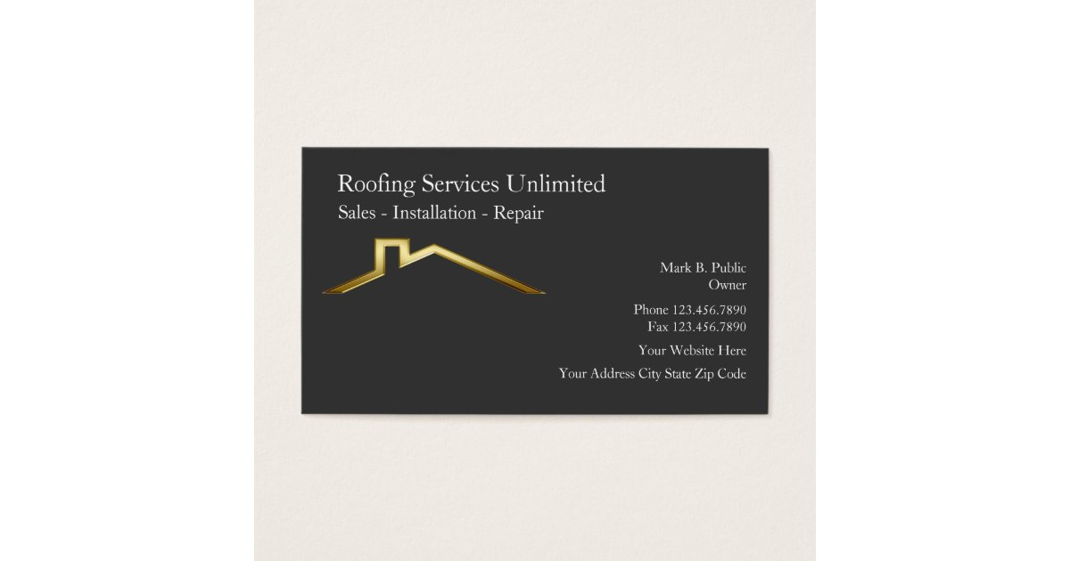 Charming construction business cards pictures inspiration business roofing construction business cards zazzle reheart Choice Image