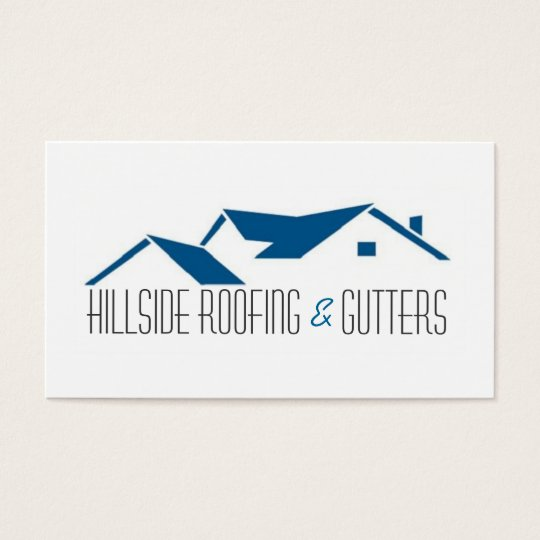 Roofing gutters construction business card zazzle roofing gutters construction business card reheart Choice Image