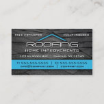 """Roofing Professional Business Card Blue<br><div class=""""desc"""">Professional roofing company business card by WRKDesigns.</div>"""