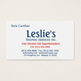 Roofing Service Business Card