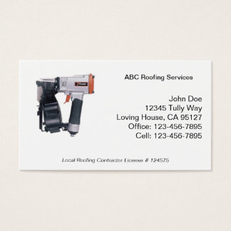 Roofing Services Business Card