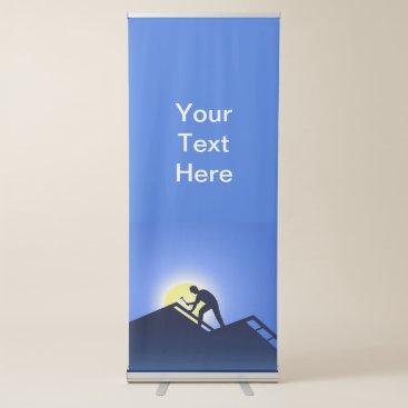 Roofing Worker Retractable Banner