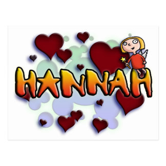 roofridge name Hannah for T-shirts and more other Postcard