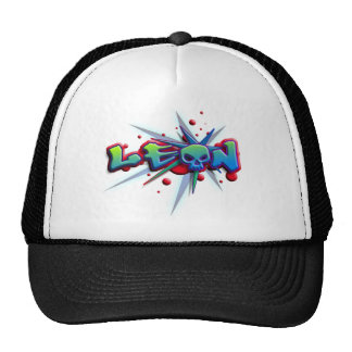 roofridge name Leon for T-shirts and more other pr Trucker Hat