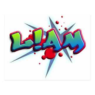 Roofridge name Liam with! as i Postcard