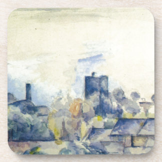 Roofs in L'Estaque by Paul Cezanne Beverage Coaster