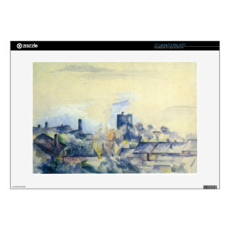 Roofs in L'Estaque by Paul Cezanne Laptop Decals