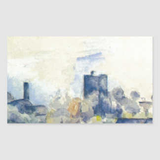 Roofs in L'Estaque by Paul Cezanne Rectangular Sticker