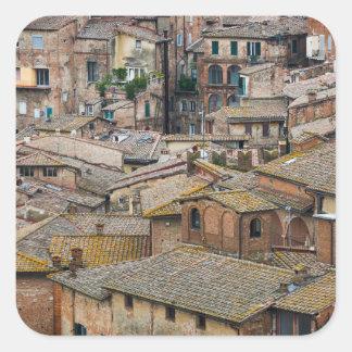 Roofs in Siena photo sticker
