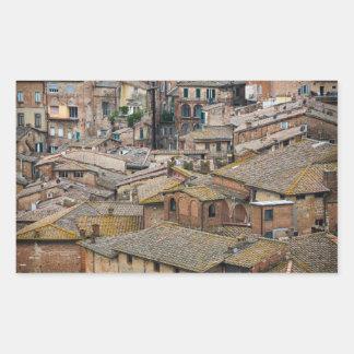 Roofs in Siena rectangular photo sticker