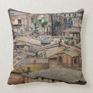 Roofs in Siena throw pillow